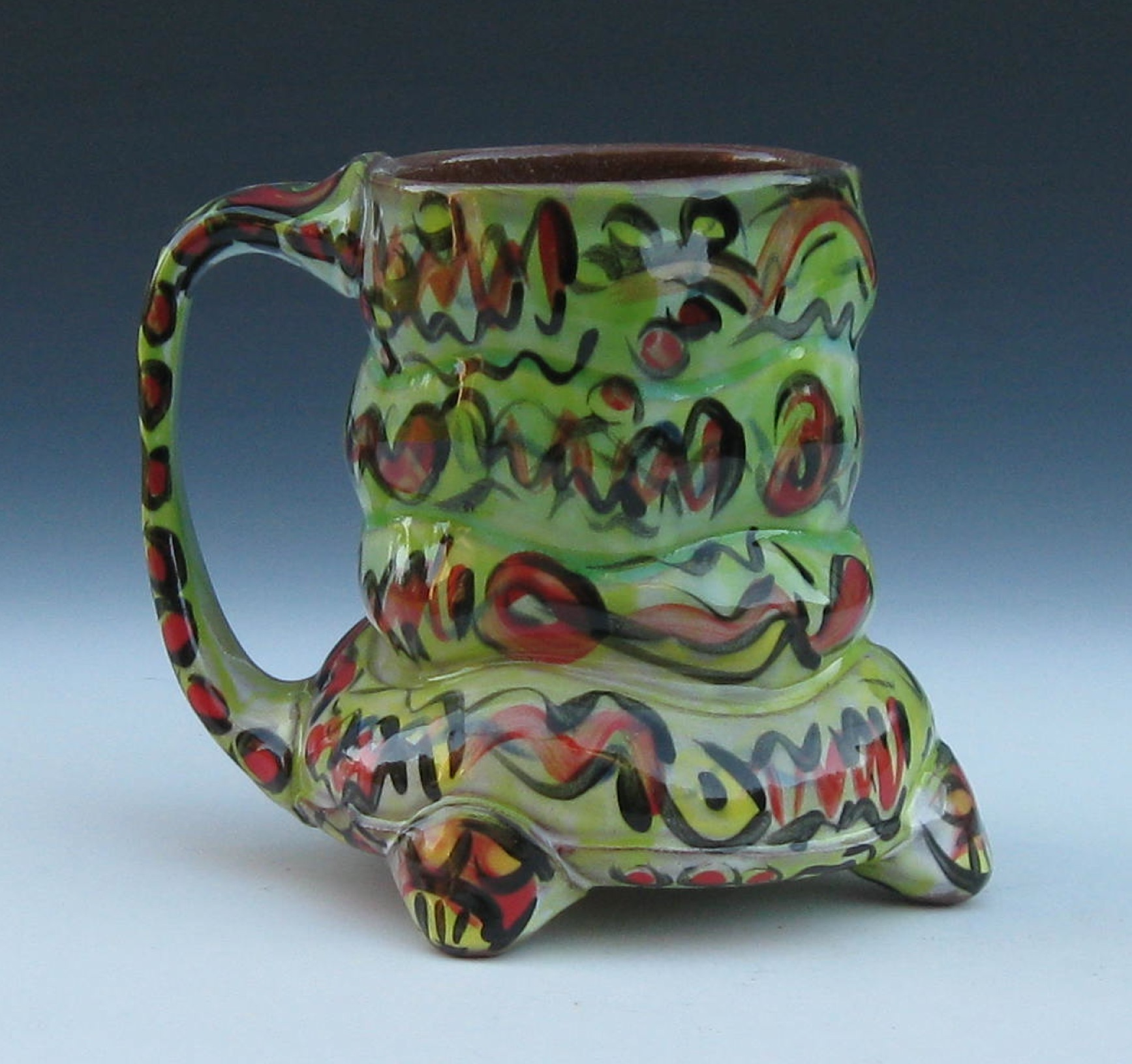 """Bulgy Graffiti Mug"" by Nathan Bray"