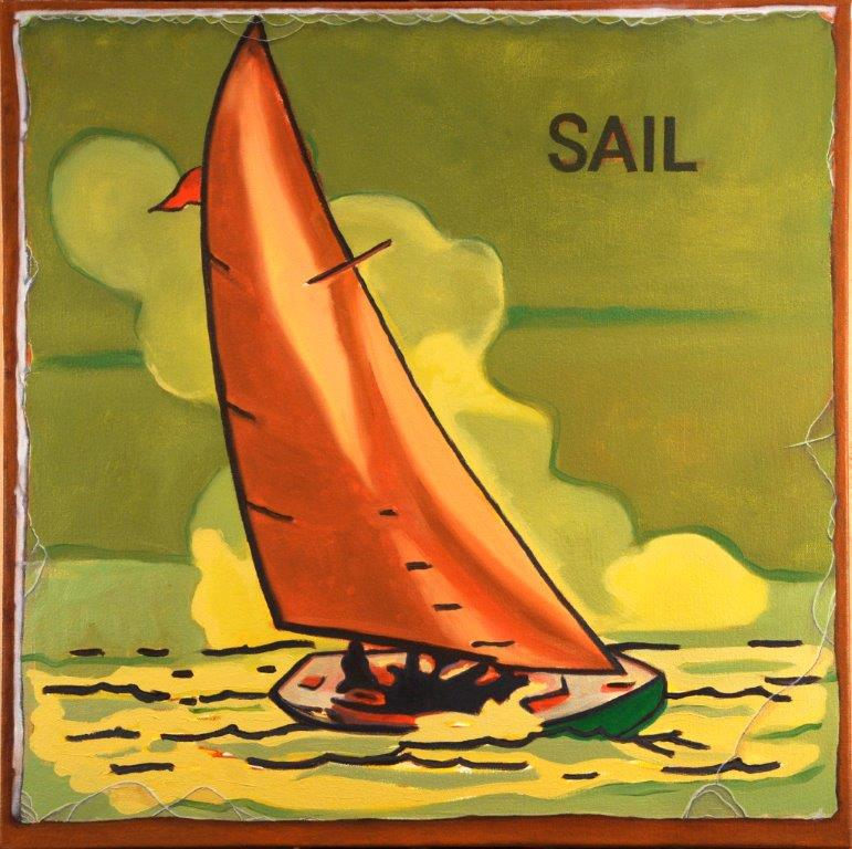 _SAIL_ 2013 Oil on Canvas 24x24#3777