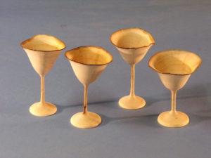 Hand-turned alder goblets