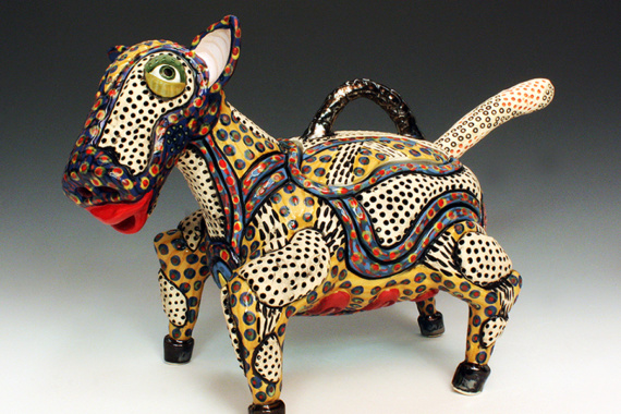 Nathanial, Lidded Beast with Spoon by Molly Uravitch