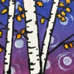 Birch Trees with turning leaves