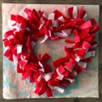Fleece Heart Wreath