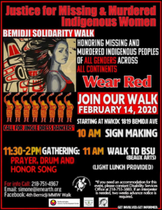 Poster: 4th Bemidji MMIW Walk