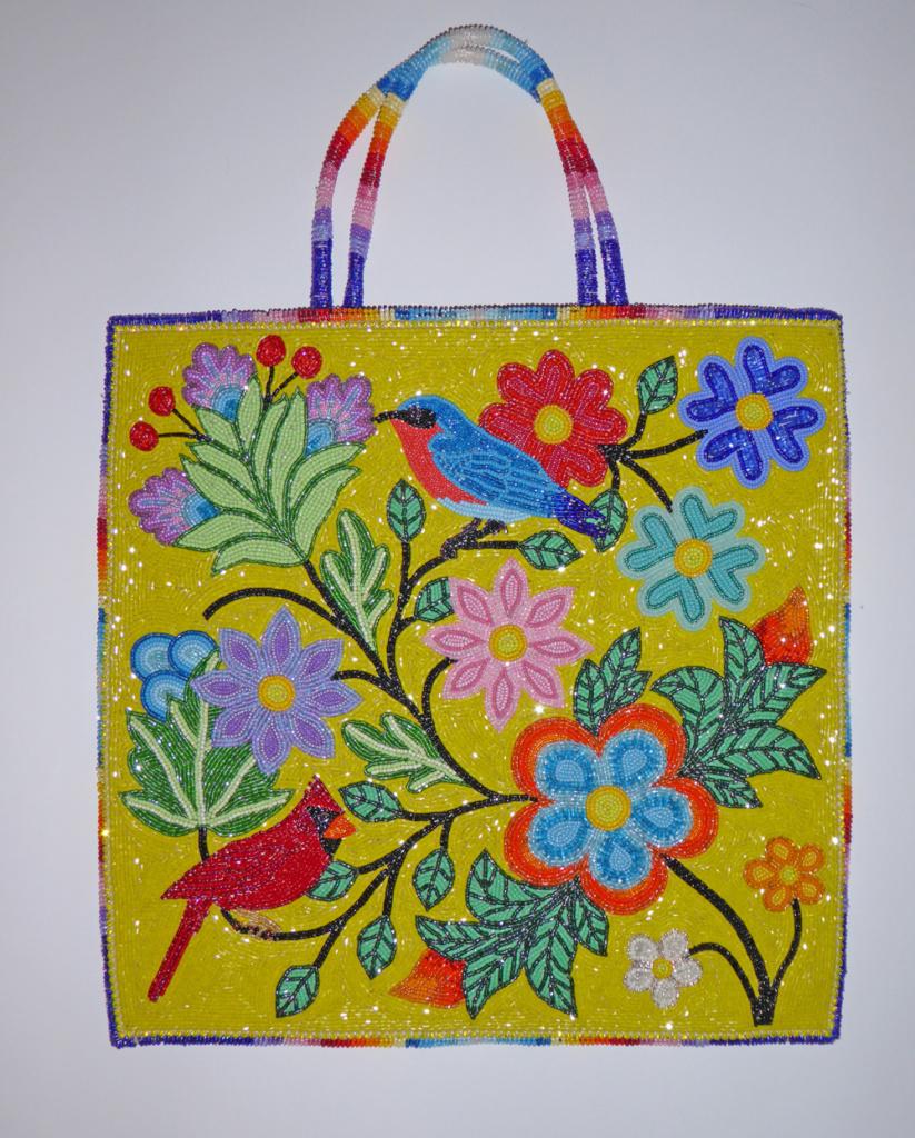 Sunshine Beaded-bag on Leather by Tom Stillday