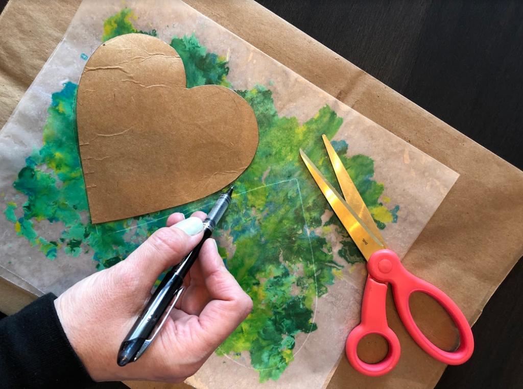 Hearts - stencil