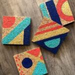 Geometri Cork Coaster