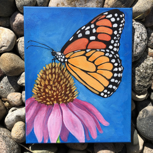 Monarch Acrylic class for kids