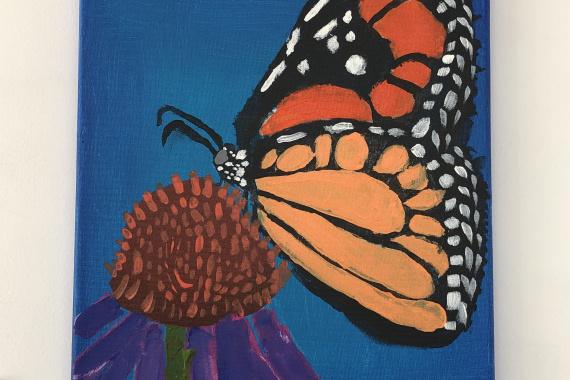 Young Artist Monarch Butterfly
