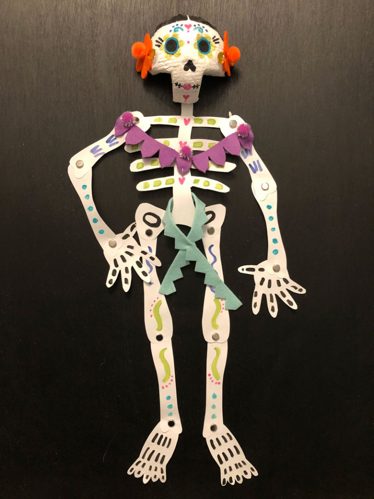 Sugar Skull Poseable Skeletons