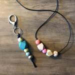 Big Bead Necklace and Key Fob