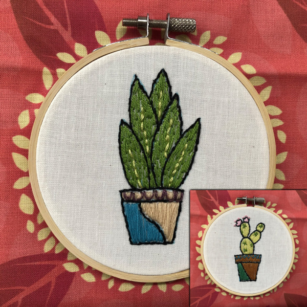 Embroidered Succulents