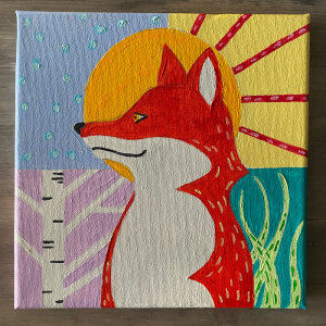 Foxy-M.K. animal painting class